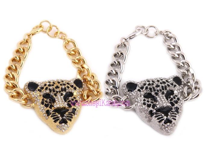 Leopard Head Chain Bracelet