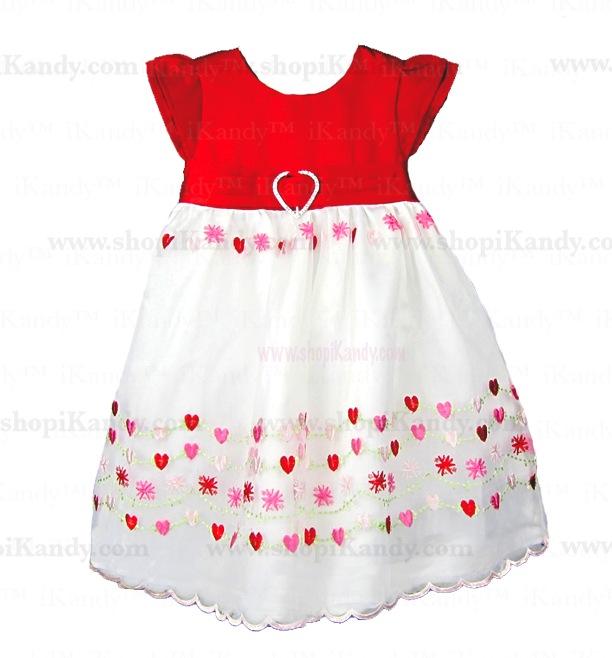 My Little Valentine Heart Organza Dress