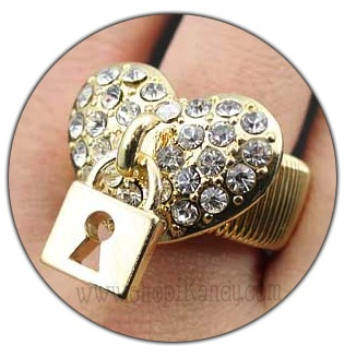 Locked Heart Bling Ring