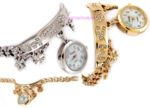 Love Bracelet Style Charm Watch