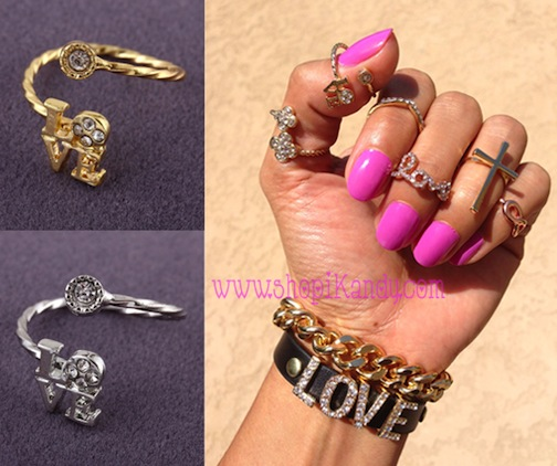 Love Word Thumb/Knuckle Ring