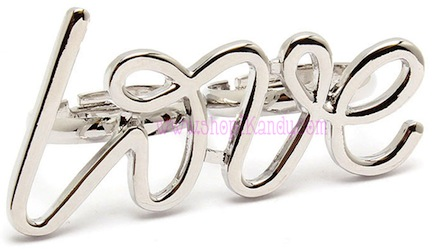 Love Word Two Finger Ring