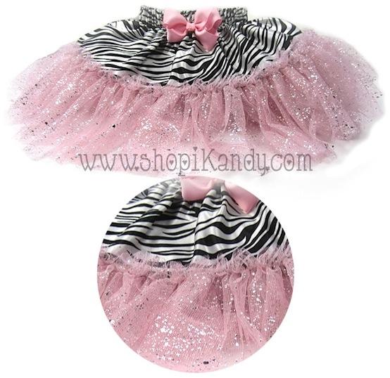 Pink Glitter Zebra Pettiskirt Tutu