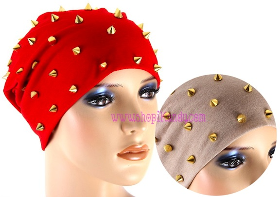 Metal Spikes Beanie Hat
