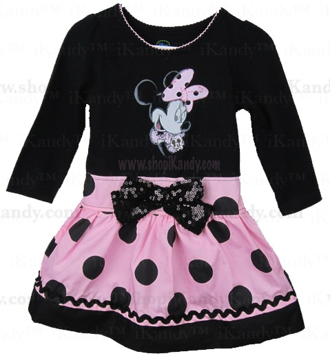 Pink Polka Dot Minnie Dress