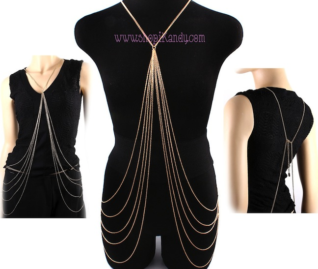 Multi Chain Waterfall Body Armor Jewelry