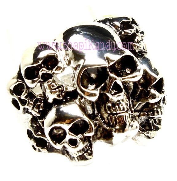 Multi Skulls Ring