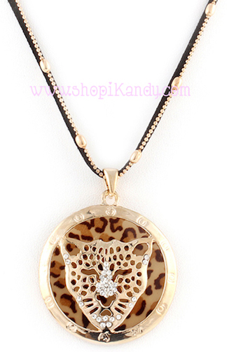 Leopard Emblem Necklace