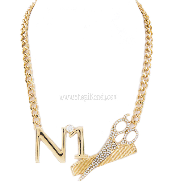 Number 1 Hair Stylist Necklace