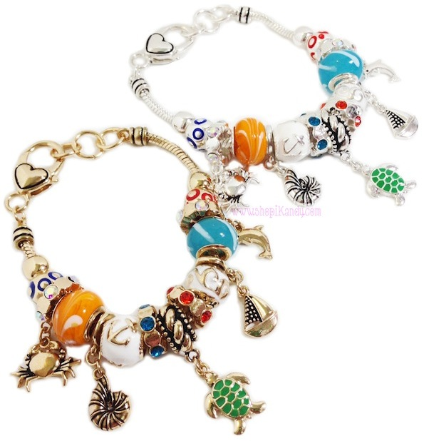 Nautical Beaded Charm Bracelet