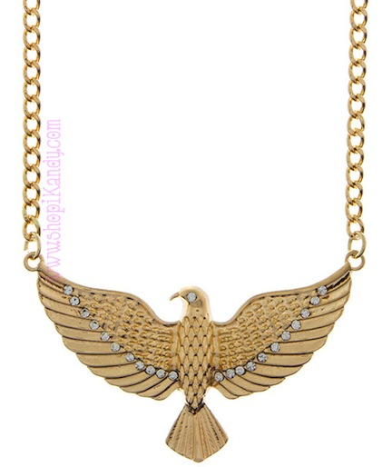 Open Wings Eagle Necklace