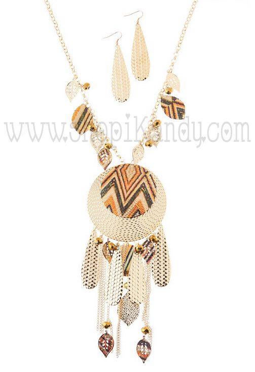 Oversized Tribal Necklace Set