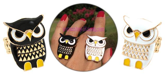 Cute Owl Rings