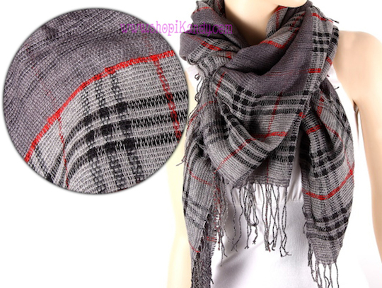 Pattern Grey Fashion Scarf