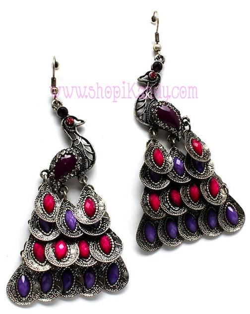 Peacock Chandelier Earrings