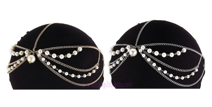 Pearls & Chains Head Jewelry