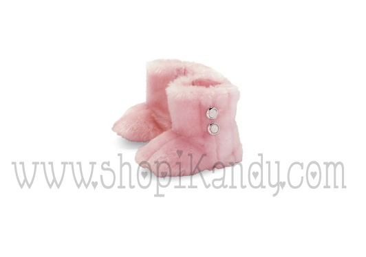Pink Fur Boots by Mud Pie
