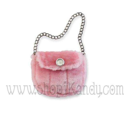 Pink Fur Handbag