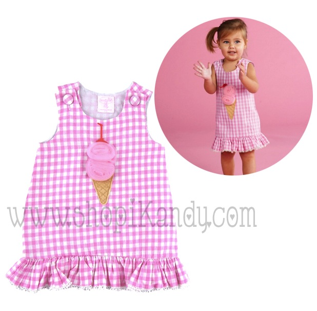 Ice Cream Pom Pom Dress