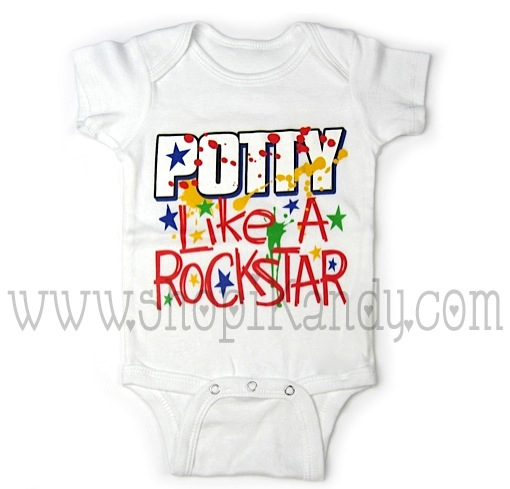 Potty Like A Rockstar Onesie
