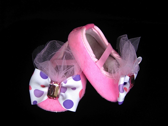 Pink Ballerina Princess Infant Crib Shoes