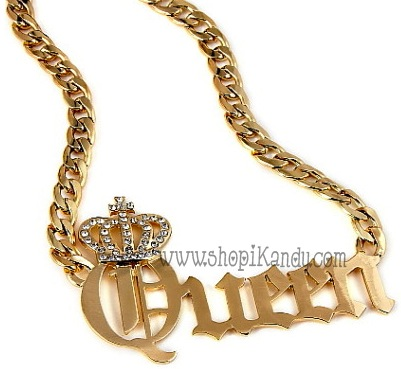 Queen Chain Link Necklace