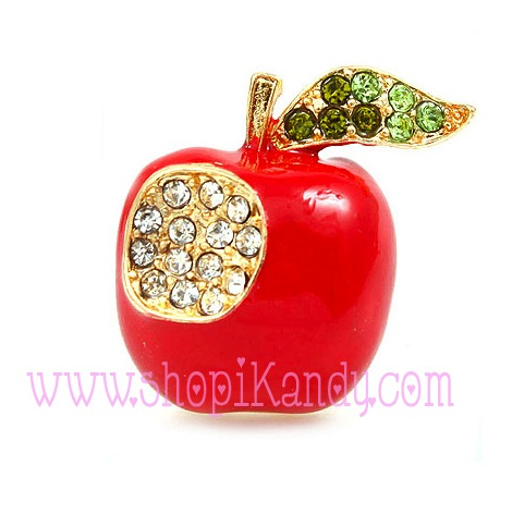 Apple Brooch and Pin
