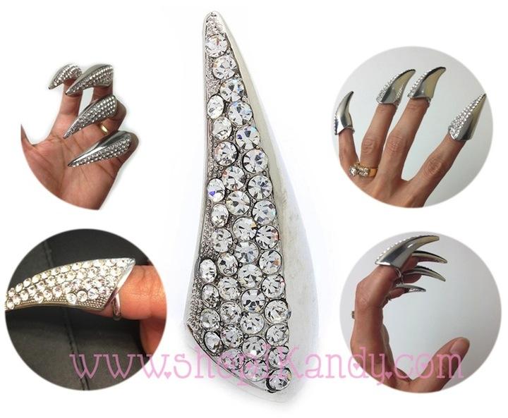Rhinestone Claw Ring