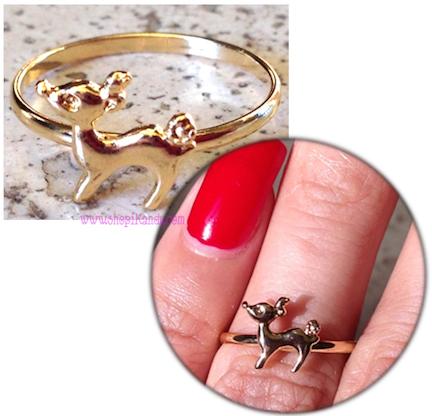 Dainty Rudolph Reindeer Ring