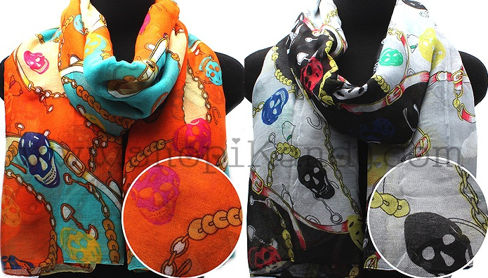 Skull Fashion Scarf