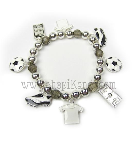 Soccer Charm Sports Bracelet