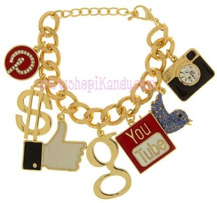 Social Media Queen Charm Bracelet