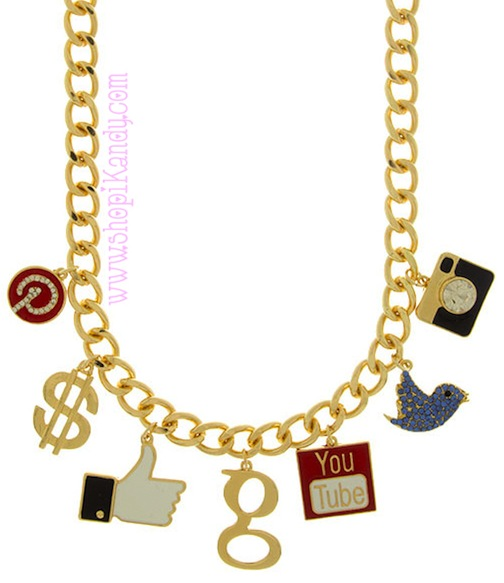Social Media Queen Charm Necklace