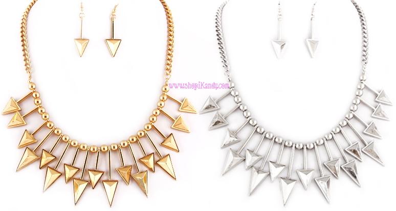 Arrow Necklace & Earring Set