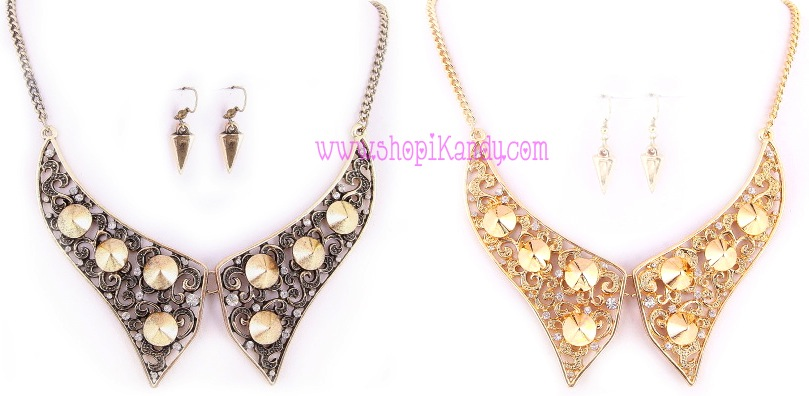 Spiked Collar Necklace & Earring Set