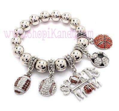 Sports Mom Charm Bracelet