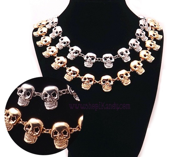 Starry Eyed Skull Choker Necklace