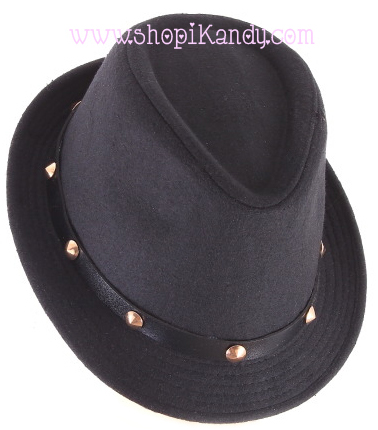 Studded Fedora Hat