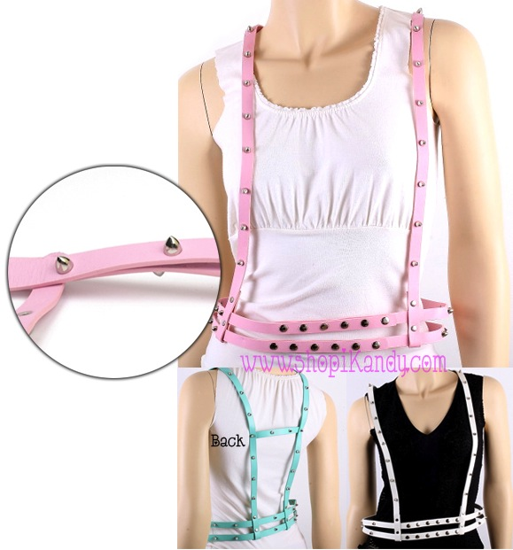 Belt Suspenders w/Spikes & Studs