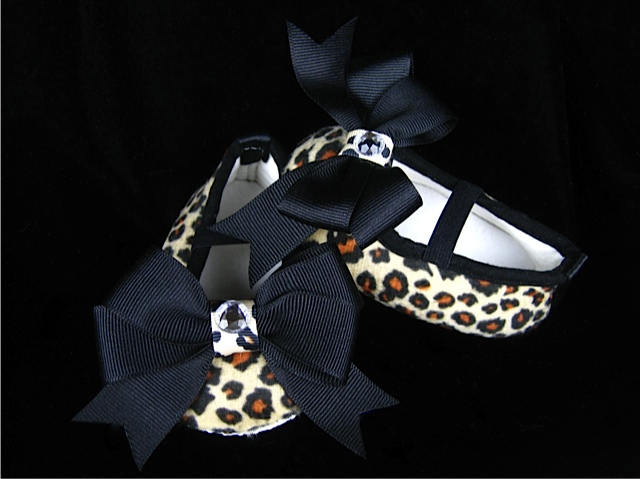 Animal Print Infant Crib Shoes
