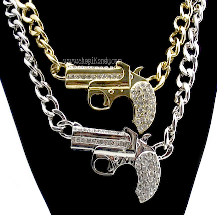 Vintage Marx Derringer Gun Necklace
