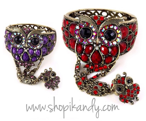 Vintage Owl Ringlet (Bracelet with Ring)