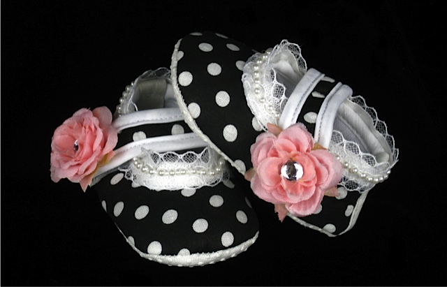Vintage Romance Infant Crib Shoes