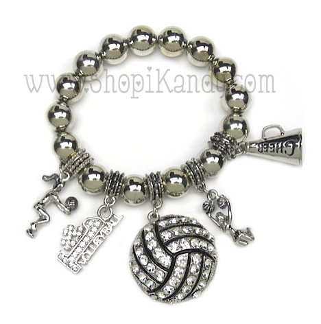 Volleyball Charm Sports Bracelet