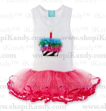 Zebra Cupcake Tutu Dress
