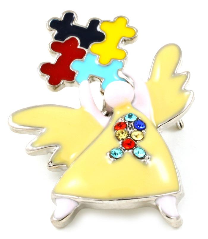 Autism Awareness Angel Brooch & Pin