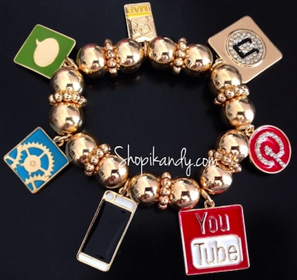 iPhone Apps Charm Bracelet
