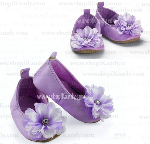 Purple Ballet Infant Slippers by Mud Pie